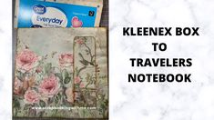 WINDOW TRAVELERS NOTEBOOK FROM KLEENEX BOX ~ THE COVER Book Journal, Journals, Bullet Journal, Invitation Cards, Invitations, Craft Packaging, Kleenex Box, Tissue Boxes, Autumn Inspiration