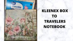 WINDOW TRAVELERS NOTEBOOK FROM KLEENEX BOX ~ THE COVER Craft Packaging, Kleenex Box, Book Journal, Bullet Journal, Handmade Journals, Tissue Boxes, Autumn Inspiration, Travelers Notebook, Invitation Cards