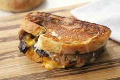 Braised Short Rib Grilled Cheese with Caramelized Onions - dinner with Julie