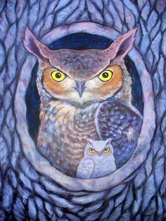 Owl paintings | Owl painting
