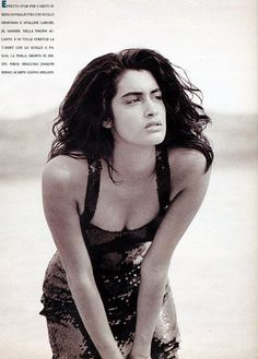 "YASMEEN GHAURI Marie Claire Editorial (Italy) ""Seduzione"" May 1990 Photos: Jacques Olivar"