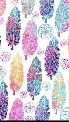 Phone wallpaper boho, feather wallpaper, lock screen wallpaper, cellphone w Phone Wallpaper Boho, Feather Wallpaper, Trendy Wallpaper, Pretty Wallpapers, Cute Backgrounds, Wallpaper Backgrounds, Diy Phone Case, Pattern Wallpaper, Zentangle