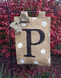 Hey, I found this really awesome Etsy listing at https://www.etsy.com/listing/171583732/monogrammed-burlap-garden-flag