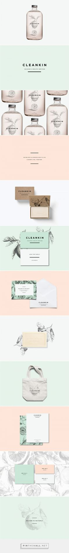 CLEANKIN Natural Cleaning Products Branding and Packaging by Marks and Maker | Fivestar Branding Agency – Design and Branding Agency & Curated Inspiration Gallery  #branding #packaging #design #designinspiration