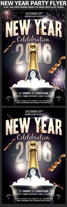 New Years Eve  Flyer Template  Flyer Template Template And