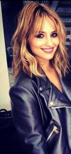 Dianna Agron. Good length to start with before going short. Layers, waves, ombré, fringe.