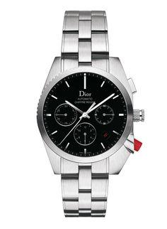 2013 montre Chiffre Rouge Dior A02 acier et bracelet acier 38mm http://www.vogue.fr/vogue-hommes/montres/diaporama/la-montre-chiffre-rouge-homme-de-dior-horlogerie-celebre-ses-10-ans-2014/20648#!2013-montre-chiffre-rouge-dior-a02-acier-et-bracelet-acier-38mm