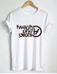 floral twenty one pilots logo T Shirt Size S,M,L,XL,2XL,3XL unisex for men and women Your new tee will be a great gift, I use only quality shirts