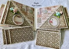 Cheryl's Paper Creations: *Sold* Stamperia Spring Mini Album By Cheryl's Paper Creations Hello Everyone, Cheryl, Mini Albums, Decorative Boxes, My Etsy Shop, Scrapbook, Paper, Spring, Floral