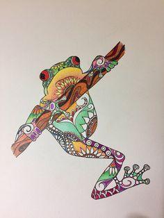 Zentangle grenouille art de la grenouille grenouille