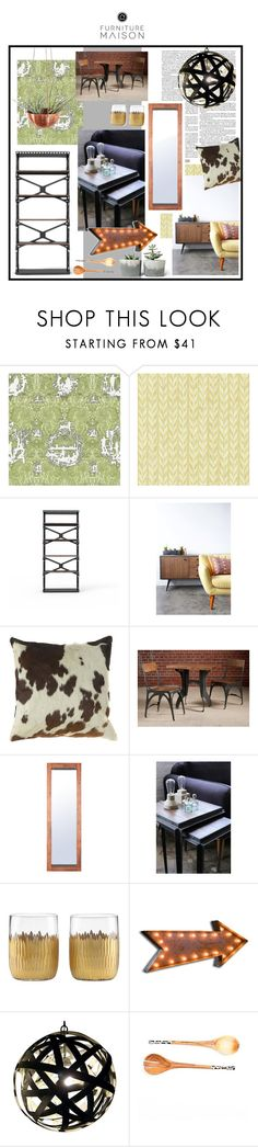 """Furniture Maison"" by sierraday ❤ liked on Polyvore featuring interior, interiors, interior design, home, home decor, interior decorating, Timorous Beasties, York Wallcoverings, Ultimate and Frontgate"