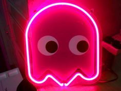 Pacman lit in Neon Blue, just for you! Preserved by 77 Pink Love, Pretty In Pink, Hot Pink, Neon Light Signs, Neon Signs, Magenta, Cobalt Blue, Graffiti, Girly