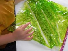 We like squishy bags - fun to make (from  hair gel, food bag, colouring and glitter) and fun to play with.