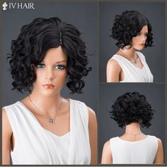 GET $50 NOW | Join RoseGal: Get YOUR $50 NOW!http://www.rosegal.com/human-hair-wigs/short-side-parting-curly-shaggy-947582.html?seid=2275071rg947582