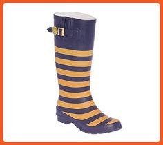 b0b1f9afdee Dark Blue and Vegas Gold Rainboots - Outdoor shoes for women (*Amazon  Partner-