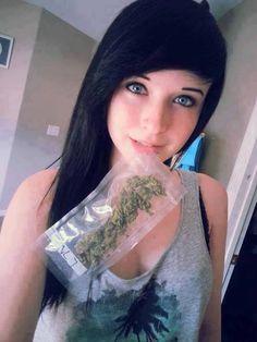 She enjoy's smoking.