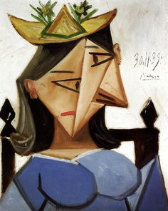 Pablo Picasso - Head of a Woman with a Hat, 1939 at The Kreeger Art Museum Washington DC