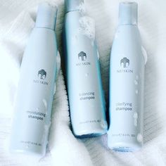 Don't deny your hair what it deserves. Some shampoos strip away natural moisture, leaving hair dry, exposed, and dull. NOT THIS ONE 😁 Shop any of the three! Clarifying Shampoo, Moisturizing Shampoo, Nu Skin, Color Your Hair, Natural Haircare, Beauty Supply, Shampoo And Conditioner, Anti Aging Skin Care, Whitening