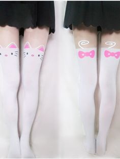Hello Kitty fake high-thigh stocking     #style #hellokitty