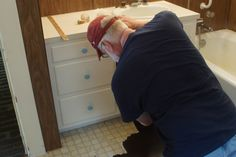 Bathroom and the kitchen were tough. Multiple layers (3+) of linoleum and lots of nail downs!