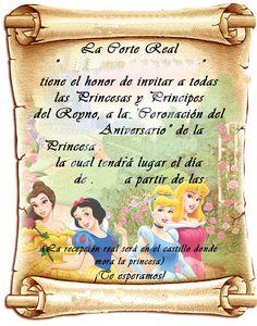 Resultado de imagen para invitaciones de blanca nieves pergamino Disney Princess Party, Event Planning Business, Princesas Disney, 1st Birthday Parties, Holidays And Events, Diy And Crafts, Baby Shower, Invitations, Ideas