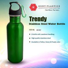 #Aquanta Trendy Stainless Steel Water Bottle Visit http://www.sonyplastics.com/ for bulk inquiries