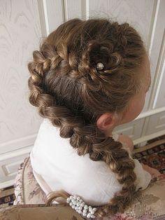 stylish french braid ponytail for little girls