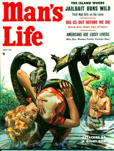 """When Animals Attack! A Menagerie of Deadly Beasts of the Pulps Ѽ Eventually, the pulps would die out, but the """"animals attack"""" torch was kept aflame in the movies of the 1970s.  For half the decade, theaters were glutted with Man versus Nature flicks like Piranha (1978), Kingdom of the Spiders (1977), Jaws (1975), Orca (1977), Day of the Animals (1977), Ants (1977 TV Movie), Prophecy (1979), Ben (1972), Grizzly (1976), Rattlers (1976), Frogs (1972), The Swarm (1978), and Squirm (1976)."""