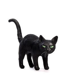 Black Latex Cat Decoration with Arched Back - Spirithalloween.com