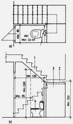 Bathroom Design Small, Bathroom Layout, Bathroom Interior Design, Home Stairs Design, Dream Home Design, Bathroom Floor Plans, House Floor Plans, Plan Wc, Bathroom Under Stairs