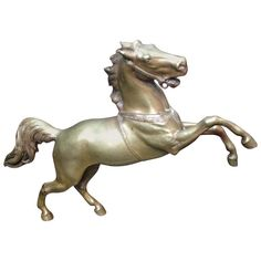 Bronze Horse by Henri Kiesewalter | From a unique collection of antique and modern sculptures at https://www.1stdibs.com/furniture/decorative-objects/sculptures/