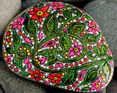 Midnight Wildflowers /Painted Stone /Sandi Pike Foundas/ Cape Code. $22.00, via Etsy.
