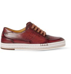 Berluti Playtime Burnished Leather Sneakers | MR PORTER