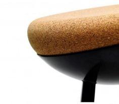 modern stool design with round cork seat