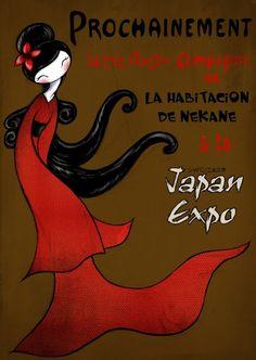 Japan Expo Poster. Año 2010. Mixta lápiz & digital.