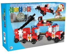Clics Hero Squad - Brandweer Afmeting: verpakking 33 x 22 x 9 cm - Clics Hero Squad - Brandweer Hero Squad, Cool Stickers, Fire Engine, Just The Way, Cool Stuff, Toys, Fun, Flats, Models
