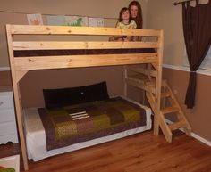 Ana White | Loft bed with Staircase - DIY Projects
