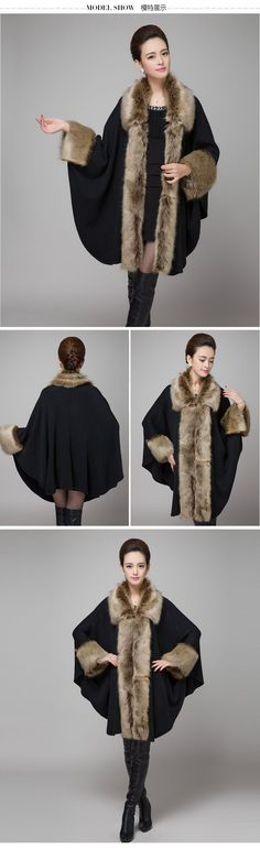 Women Cloak Faux Mink Fur Big Poncho 2017 Fur Collar Woolen Cape Coat Winter Autumn Jacket Shawls Wool Sleeves Casacos Femininos » Pro Winter Scarf | Shop professional sell winter scarf at good prices, high quality, lots of beautiful samples for people around the world Pro Winter Scarf | Shop professional sell winter scarf at good prices, high quality, lots of beautiful samples for people around the world