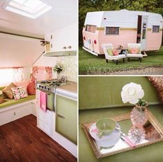 -My dream colors for my vintage trailer