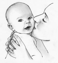 """Illustrations for book """"Like You and Me"""" by Cynthia Swanson — Joel Armstrong Fine Art Girl Drawing Sketches, Art Drawings Sketches Simple, Cute Drawings, Pencil Drawing Images, Art Drawings Beautiful, Indian Art Paintings, Mother Art, Baby, Fine Art"""