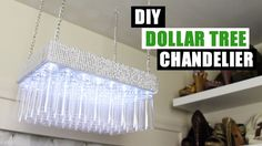 Easy tutorial on how to make this Dollar Tree DIY Chandelier. DIY Chandelier is so easy and everything is from Dollar Tree. The Dollar Tree DIY Chandelier is. Inexpensive Home Decor, Cute Home Decor, Diy Home Decor Projects, Cheap Home Decor, Decor Ideas, Decor Crafts, Diy Crafts, Diy Ideas, Craft Ideas