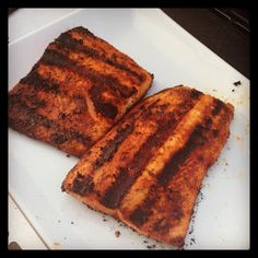 Food For Thought: Recipes & Ideas for Healthy Living : Blackened Salmon on the Grill