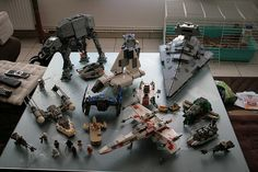 Partial view of my Lego Star Wars collection.    Includes :    Set 6207, A-wing fighter - 194 parts (released 2006)  Set 6211, Imperial Star Destroyer - 1366 parts (released 2006)  Set 6212, X-wing fighter - 437 parts (released 2006)  Set 7110, landspeeder  #Star Wars# is probably the very best videos ever, filter systems possess a