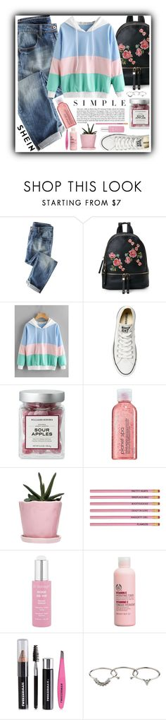 """""""// shein contest - simple //"""" by jessgomes99 ❤ liked on Polyvore featuring Wrap, Urban Expressions, Converse, Avon, Dot & Bo, Dr. Sebagh, The Body Shop, Tweezerman and Zimmermann"""