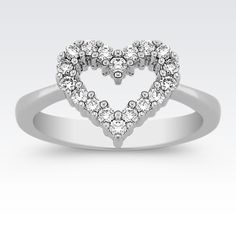 What could be more romantic than this diamond heart ring?
