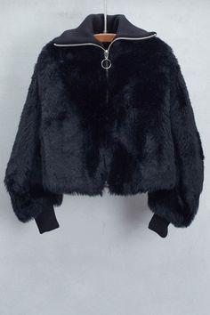 Black Bomber Jacket by Hache | shopheist.com