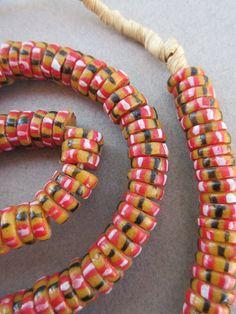 African Glass Krobo Beads by bobbydoe on Etsy