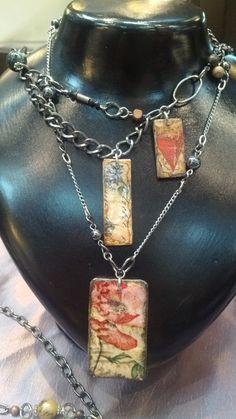 DIY Decoupage necklaces