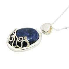 Katherine's Lapis Necklace Antisunlight Pendant in Sterling Silver