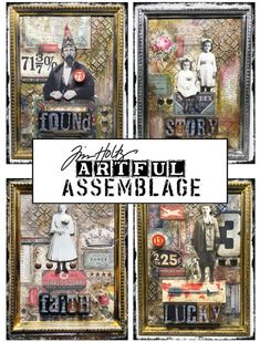 Join Tim and embark on a colorful adventure using the latest additions to the Distress product line while creating a framed artful assemblage! Vintage Family Pictures, Vintage Photos, Altered Art, Altered Tins, Grunge, Christmas Paper Crafts, Diy Resin Crafts, Art Journal Techniques, Distressed Painting
